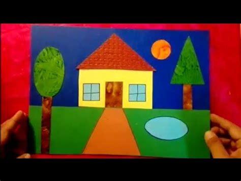 scenery  house  geometrical shapes