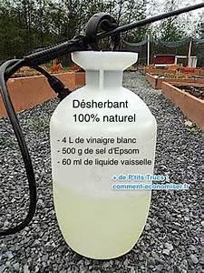 Vinaigre Blanc 14 Desherbant : plus besoin d 39 acheter de roundup utilisez ce d sherbant 100 naturel la place ~ Melissatoandfro.com Idées de Décoration