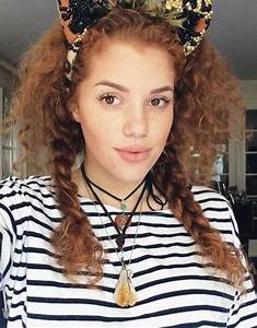 Mahogany Lox Curly Medium Brown Headband Pigtail Braids