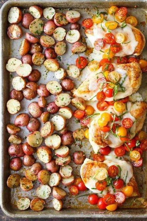 sheet pan recipes prep meal chicken fajitas change