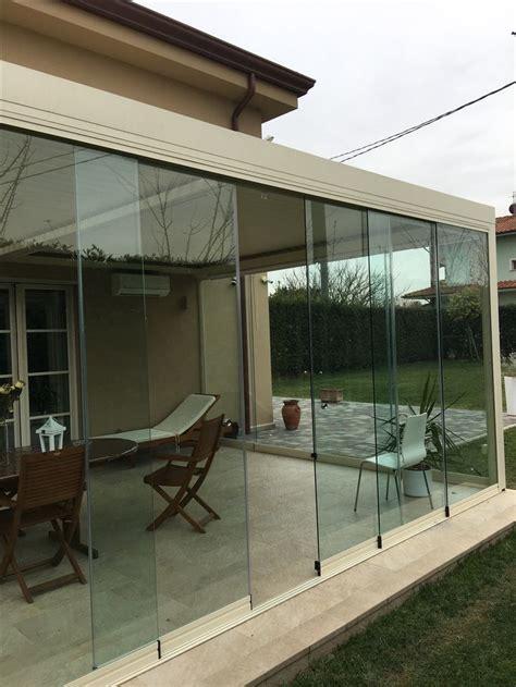 veranda terrazza veranda bioclimatica con vetrata panoramica tutto vetro