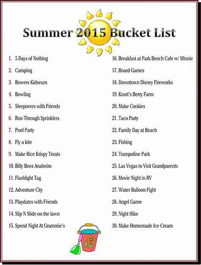 Bucket Summer Things Fun Late