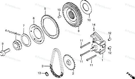 Honda Motorcycle Oem Parts Diagram For Oil Pump