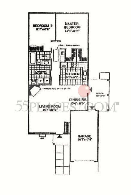 Sherbourne Floorplan   1220 Sq. Ft   Crestwood Village 6