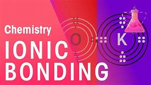 Ionic Bonding Of Lithium Fluoride  U0026 Potassium Oxide