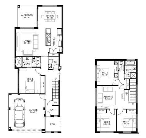 4 Bedroom House Plans 2 Story by Luxury 4 Bedroom Two Storey House Plans New Home Plans