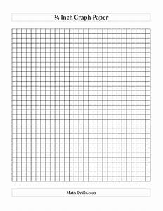 1 4 Inch Graph Paper A Math Worksheet Freemath Graph