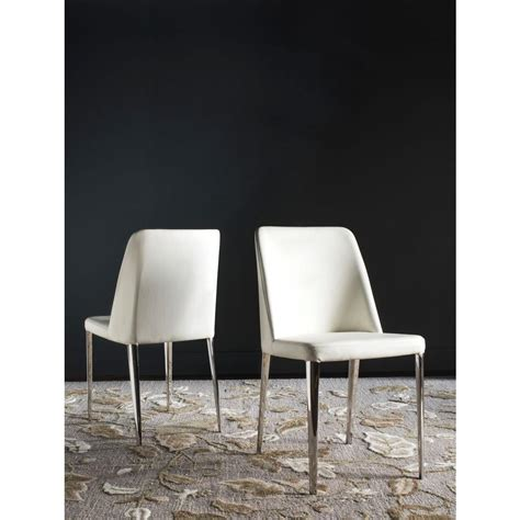 safavieh leather dining chairs safavieh baltic white bicast leather dining chair set of