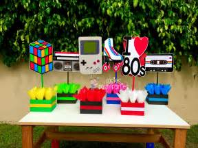 I Love The 80s Birthday Bash Party Centerpieces 80s Party