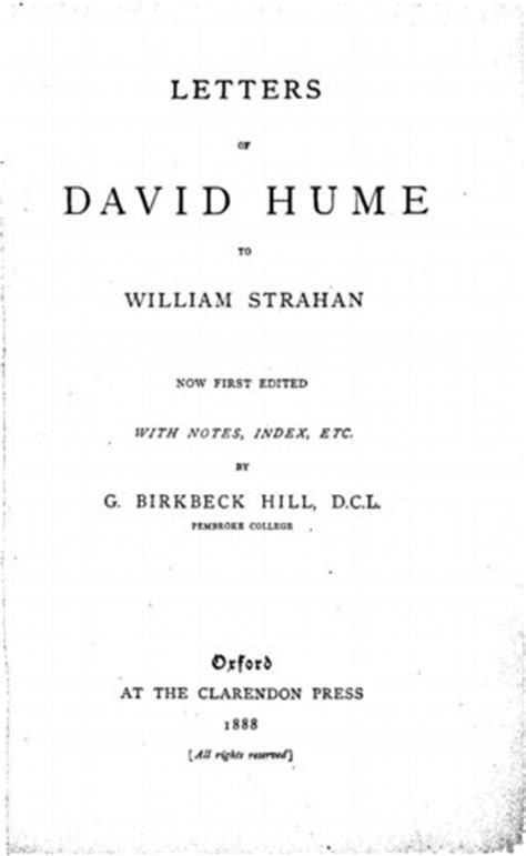 Letters of David Hume to William Strahan - Online Library