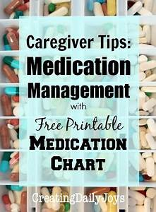 Daily Medication Chart For Elderly Caregiver Charts And Parenting On Pinterest