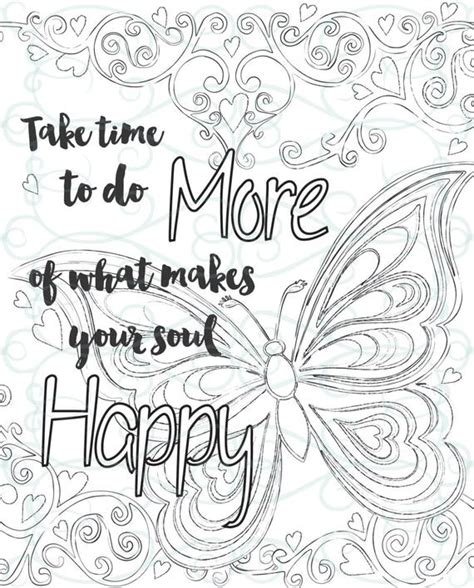 adult inspirational coloring page printable    soul