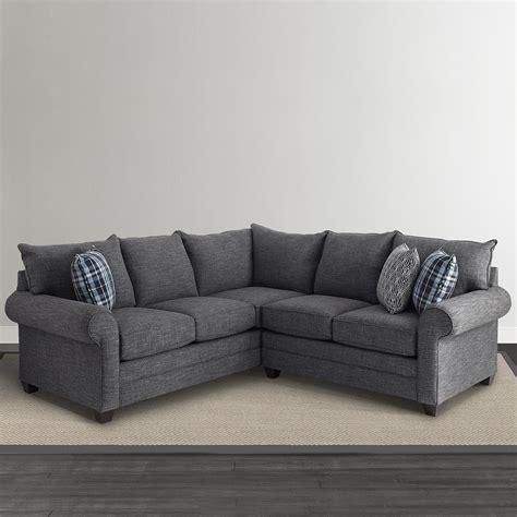 l shaped settee alex l shaped sectional sofa living room bassett furniture