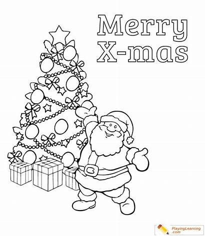 Coloring Merry Claus Santa Say