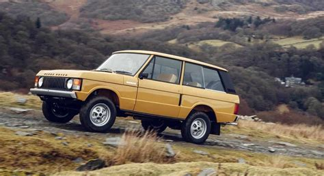 land rover land rover to release brand new 1978 3 door range rover