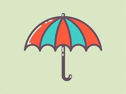 Umbrella Animated Icons Icon Dribbble Flat Gifer