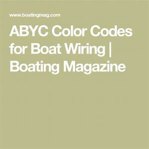 Boat Wiring Color Code