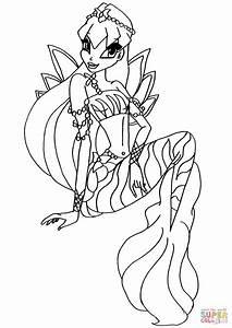 Mermaid Stella Coloring Page Free Printable Coloring Pages