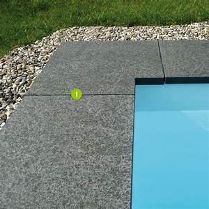 Margelle d39angle granit 2 dalles paves opus parement for Lovely margelle noire pour piscine 2 les margelles de piscine dalles paves opus parement