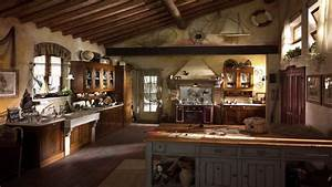 French country kitchen lighting, old country kitchen