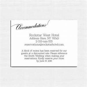 insert cards choose the card accommodation card information With wedding invitation inserts hotel accommodations