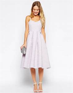 image 4 of asos midi skater dress in bonded texture With wedding guest midi dresses