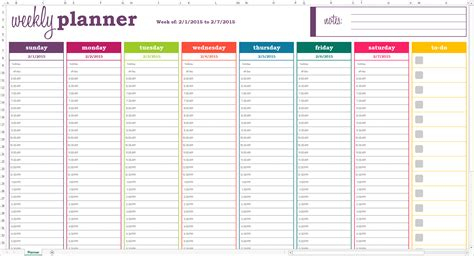 Monthly Organiser Template by Dynamic Weekly Planner Excel Template Savvy Spreadsheets