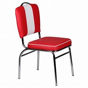 Diner Stühle Günstig : wohnling esszimmerstuhl american diner 50er jahre retro rot wei 39205 ~ Markanthonyermac.com Haus und Dekorationen