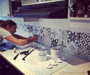 repeindre des carreaux avec de la chalk paint et des With carrelage adhesif salle de bain avec acheter des led
