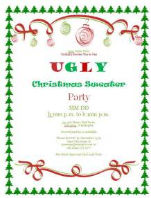 gallery ugly christmas sweater invitation template
