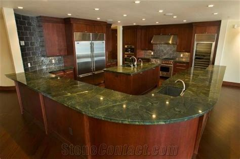 Verde Fantastico Quartzite Kitchen Countertop, Green