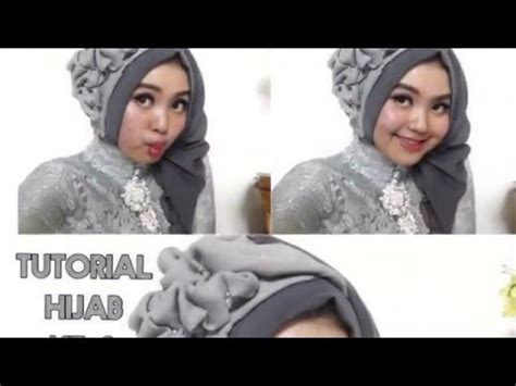 tutorial hijab rawis segi empat simple jilbab gucci