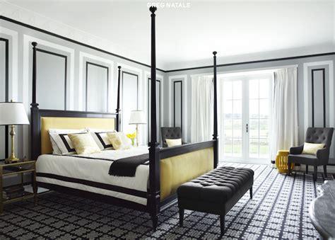 yellow  black bedroom contemporary bedroom greg