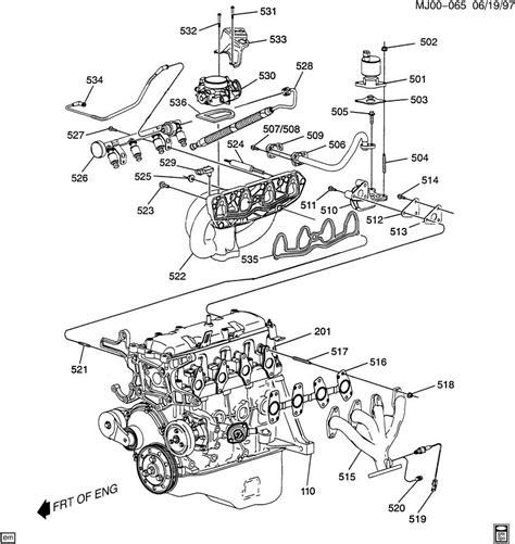 1997 S10 Engine Diagram by 1996 S10 4 3l Engine Parts Downloaddescargar