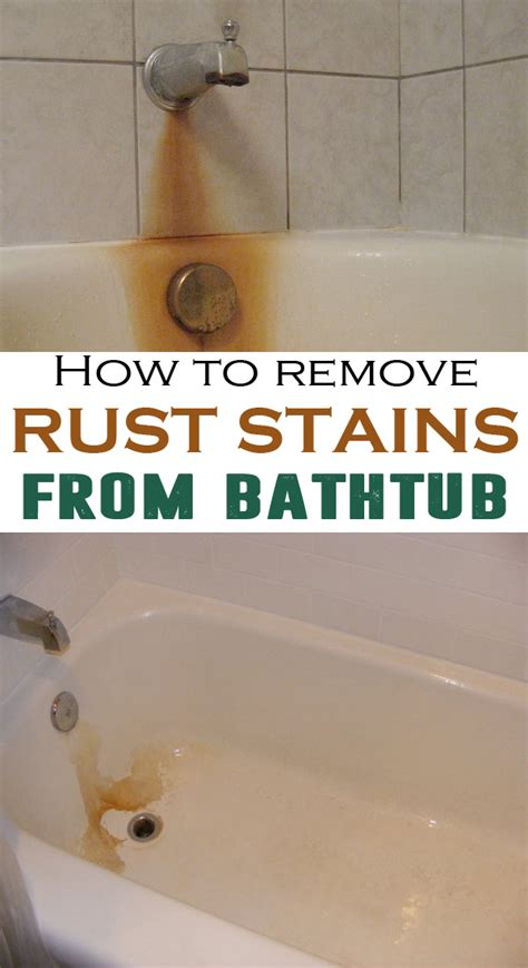 remove rust stains  bathtub house cleaning