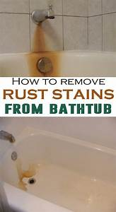Remove rust stain from tub bathtub rust stain remover 28 for How to remove yellow stains from bathroom sink