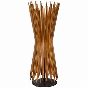 1960s danish stick wood lamp at 1stdibs With wood stick floor lamp