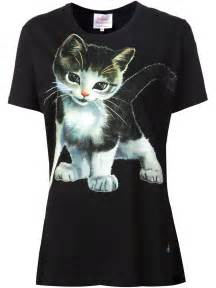 cat shirts vivienne westwood cat t shirt in black lyst