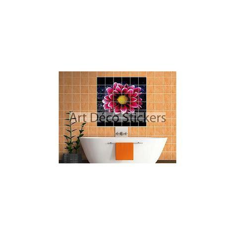 stickers faience salle de bain sticker carrelage mural faience d 233 co cuisine ou salle de bain fleur r 233 f 827 stickers muraux deco