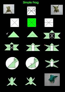 Complex Origami Frogs  U00ab Embroidery  U0026 Origami