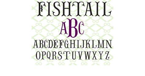 fishtail monogram svg font cricut silhouette files svg dxf eps png monogramsvgcom  svg designs