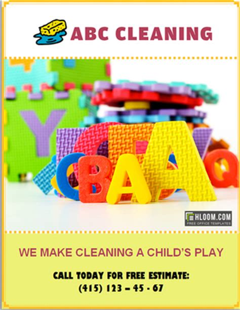 house cleaning flyers  templates