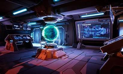 Sci Fi Wars Control Lab Bridge Space