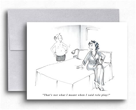 Married Couple In The Bedroom Funny Greeting Card Married Life
