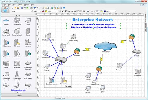 strike network diagram software  creating topology