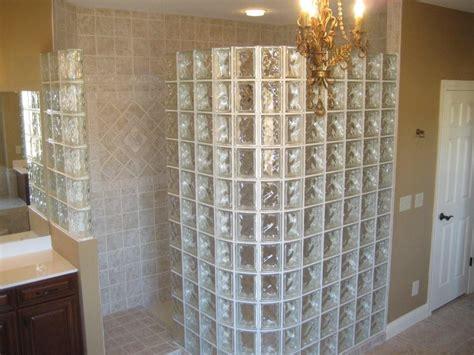 glass blocks showers  houston texas doorless showers
