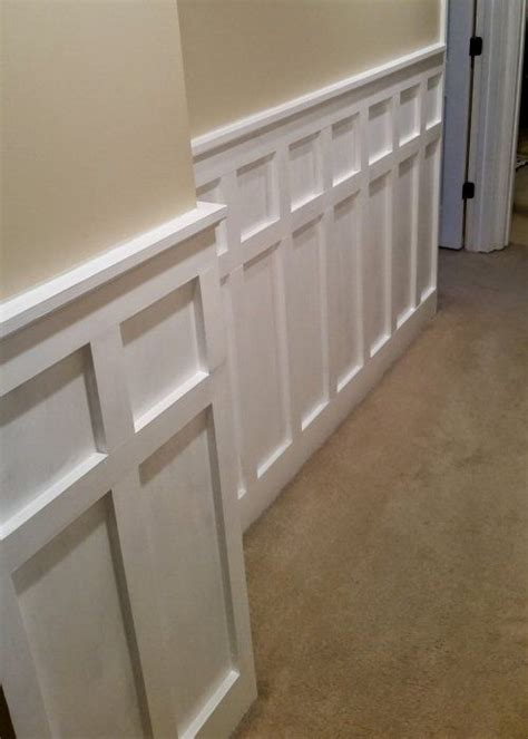 Wainscoting Square Panels by How To Install Board And Batten Wainscoting White Painted
