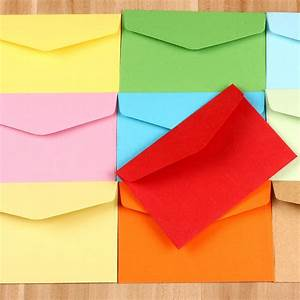 new 8118cm 10 colors kraft paper envelope gifts With colored letter envelopes