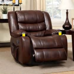 Leather Sofa Recliners For Sale by Furniture Of America Plushore Bonded Leather Match