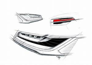 2015 audi a8 headlight and tail light design sketches for Audi tail lights